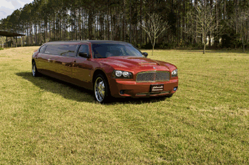 Dodge Charger Red Limos